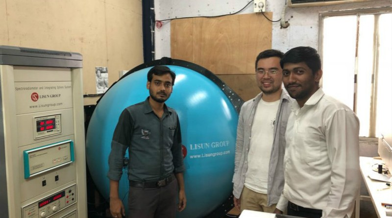 India - LISUN engineer visit Indian client to do installation and training for LPCE-2 high precision spectroradiometer integrating sphere system