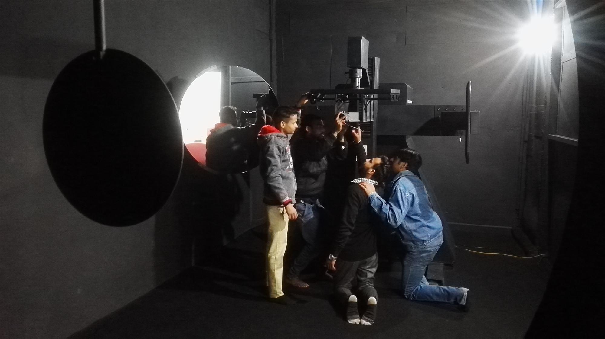 Figure 1: Customer are doing installation for LISUN LSG-3000S Moving Detector Goniophotometer