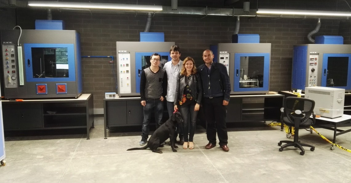 Figure 1: Group photo in front of LISUN ZRS-3H Glow-wire Test Apparatus, ZY-3 Needle Flame Test, TTC-1 Tracking Test Chamber and HVR-LS Horizontal Vertical Flame Tester