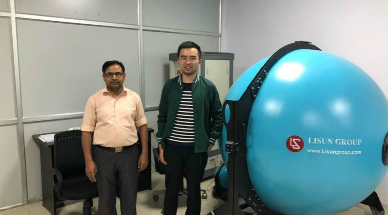 India - Our engineer went to India to do the training about LPCE-2 spectroradiometer integrating sphere system