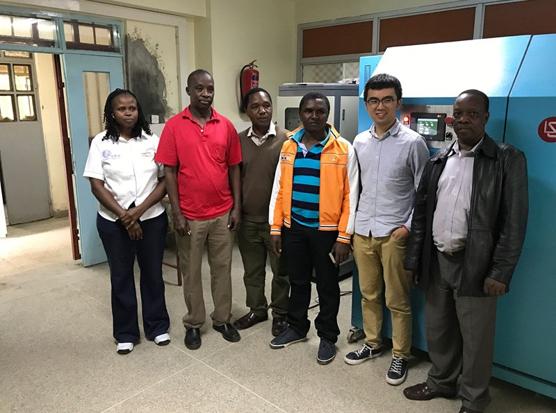 Kenya - Lisun engineer installed constant temperature integrating sphere system and did the training