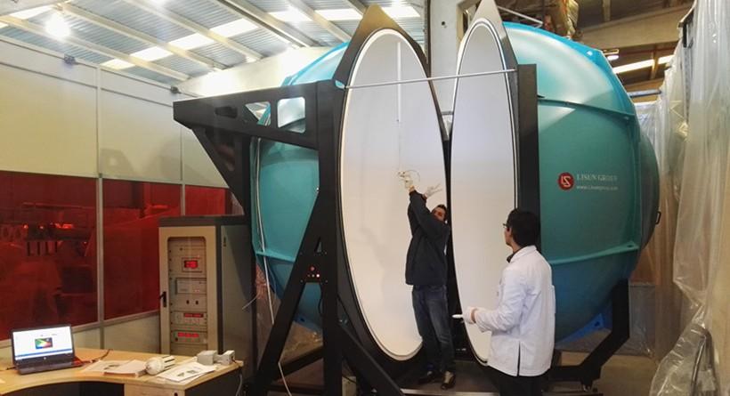 Spain - Installation 3m integrating sphere spectroradiometer system